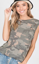 Dallas Camo Laser Cut Top