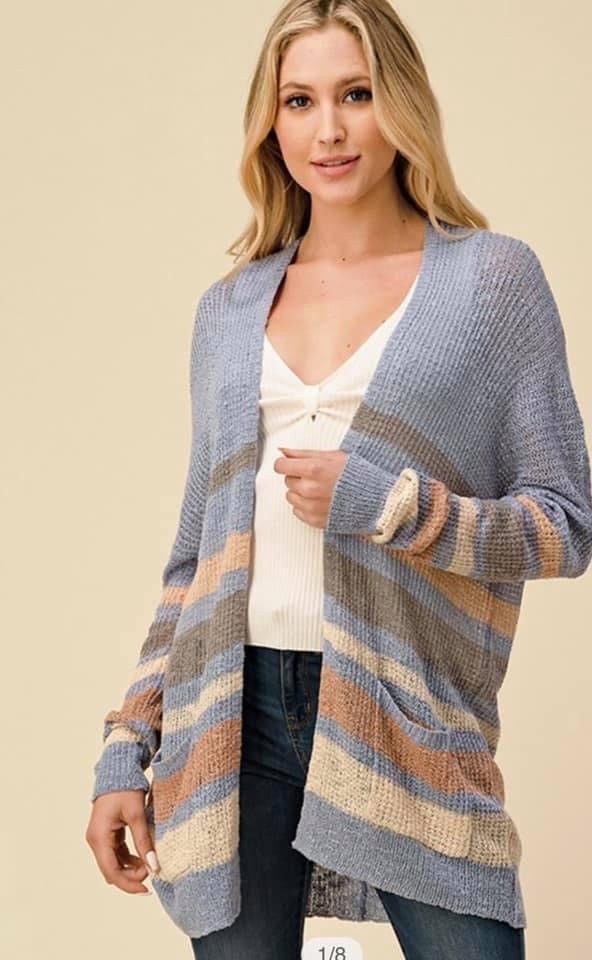 Christa Open Front Cardigan