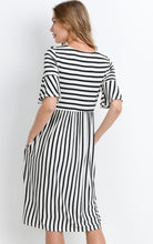 Chelsea Black & White Stripe Dress