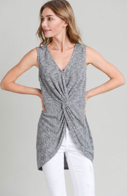 Paulette Sleeveless Twist Tank