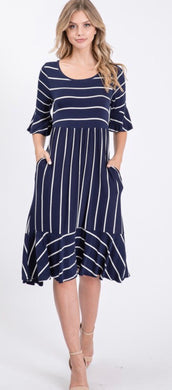 Bailey Rae Navy Striped Dress