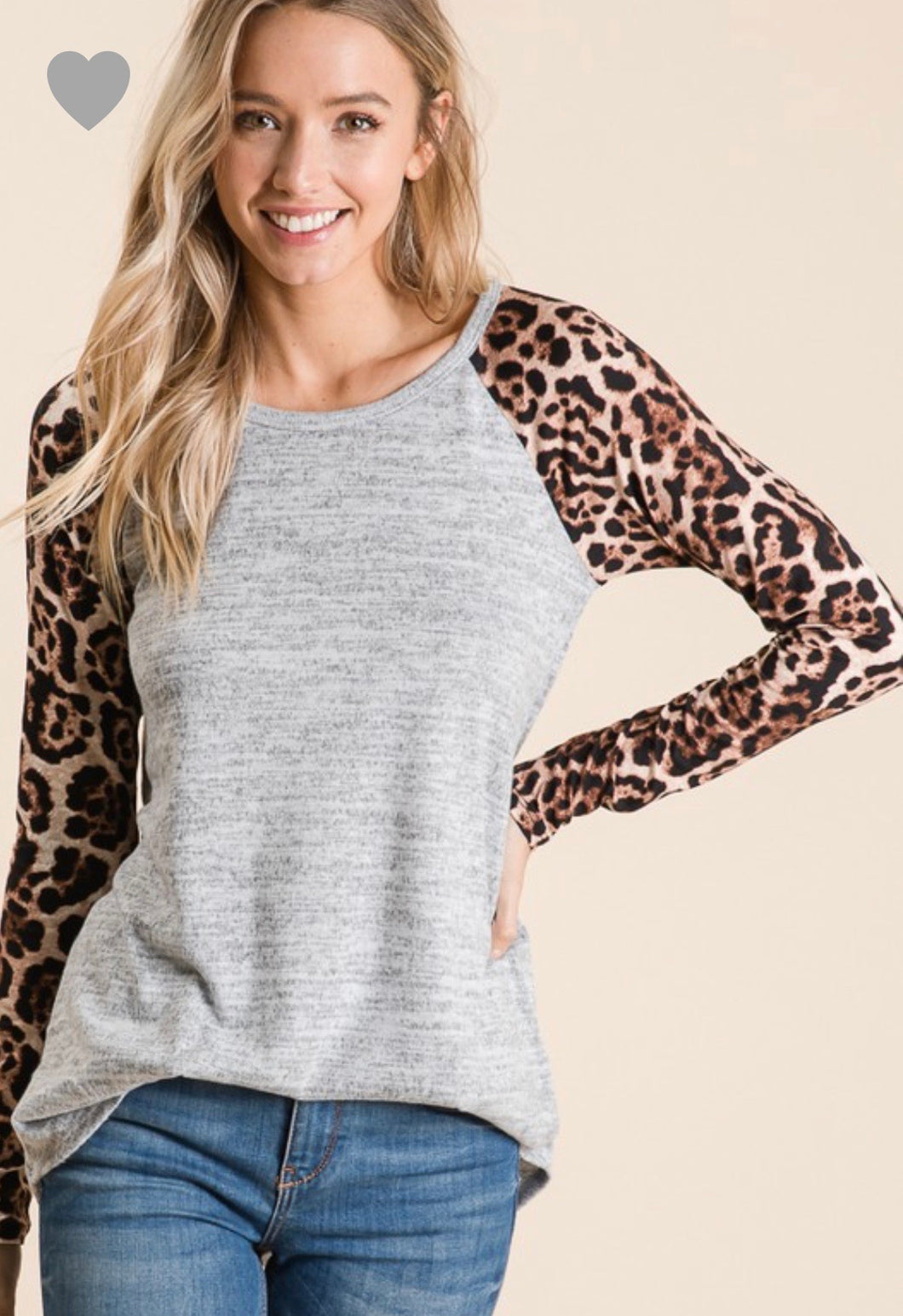 Jen Animal Print Top