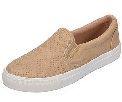 Seaside Slip On in Camel