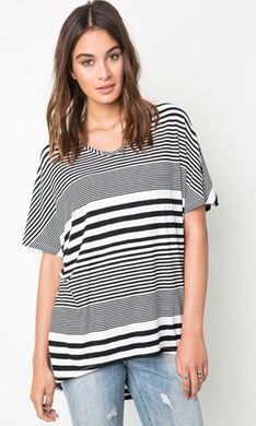Delaney Striped Jersey Top