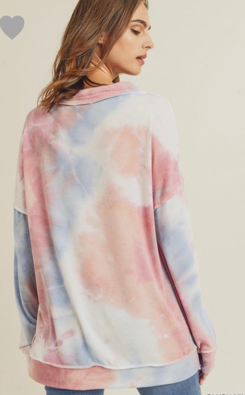 Audrey Blush Tie Dye Top