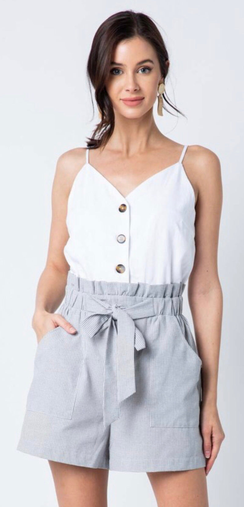 Laney  Faded Grey Romper