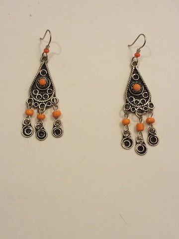 Highly Orange Moroccan Earrings