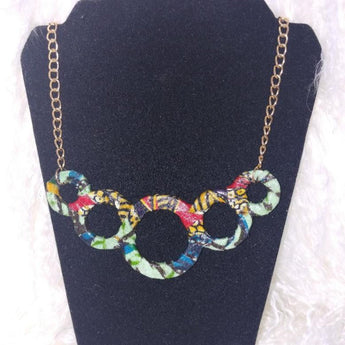Khandi Woo Circle Charm Necklace - Vedazzling Accessories
