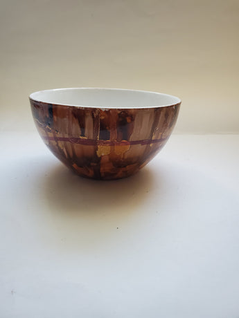 Chocolate Brown Handpainted Bowl - Vedazzling Accessories