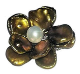 Fabulously Fun Petal Pearl Flower Ring & Pin/Pendant Necklace: Chinese Freshwater Pearls