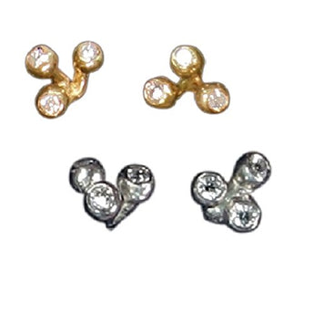 Fireworks-Trip Diamond Earrings, Life is a Celebration, 18K gold with diamonds, Jane Gordon Jewelry, Jane A Gordon