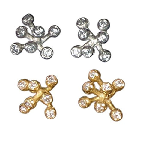 Fireworks-7 Diamond Earrings, Life is a Celebration, Sterling Silver with diamonds, Jane Gordon Jewelry, Jane A Gordon