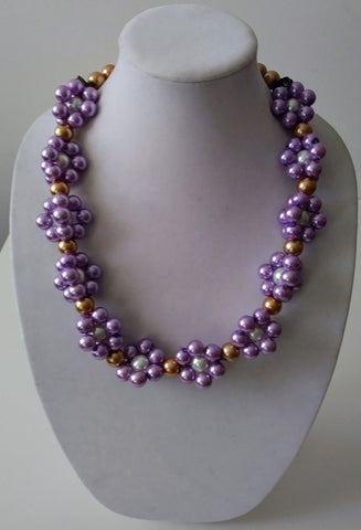 McKenzie Purple Clouds Necklace- Vedazzling Accessories