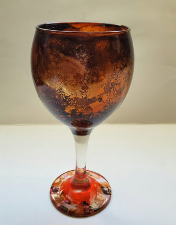 Brown Bear Wine Glass