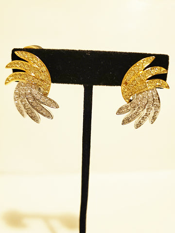 Clip-On Earrings Vintage Gold - Vedazzling Accessories