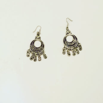 Moroccon Full Moon Earrings - Vedazzling Accessories