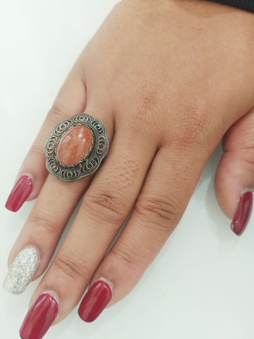 Garnet stoned ring - Vedazzling Accessories