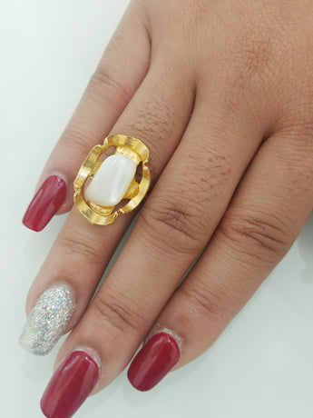 Opal and Gold overlay ring - Vedazzling Accessories