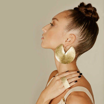 Petia's Gold Goddess Earrings
