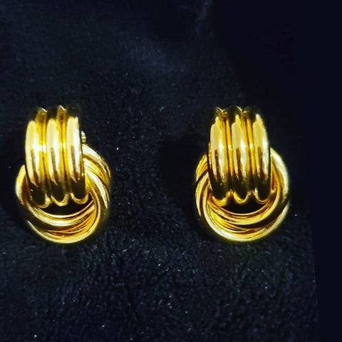 Vintage Gold Knot Earrings - Vedazzling Accessories