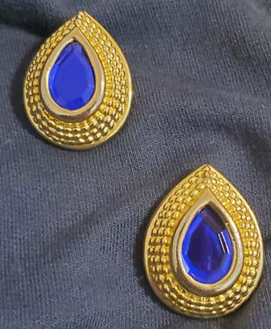Vintage Gold Pear Earrings - Vedazzling Accessories