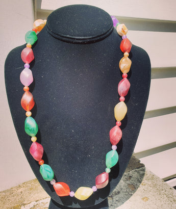 Fun Vintage Rainbow necklace - Vedazzling Accessories