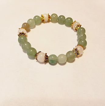 Niki Green Aventurine and Moonstone Bracelet