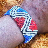 Aztec Red+ Blue Inifity Bracelet