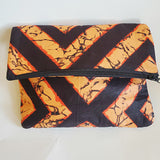 Orange Burst Vedazzling Clutch