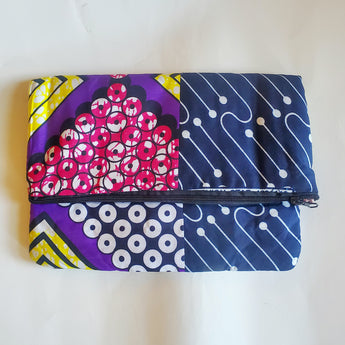 Ankara Purple Multi Vedazzling Clutch