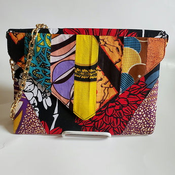 Vedazzling Floral Ankara Clutch