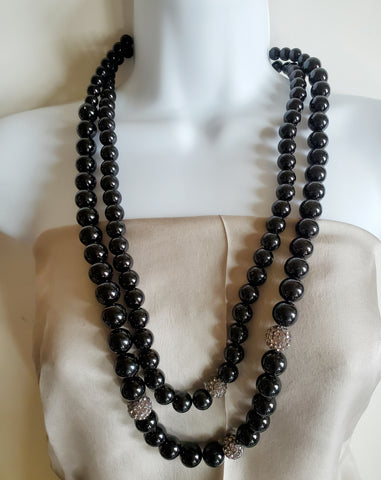 Black Cocktail Necklace- Jane Gordon