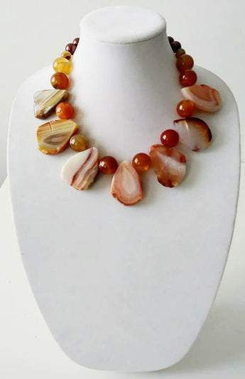Mckenzie Chunky Agate Red Necklace