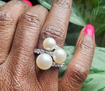 Vedazzled Pearl Ring