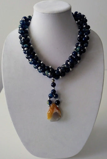 Mckenzie Acrylic W/ Agate Necklace