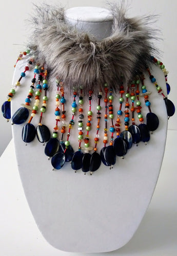 McKenzie Fur Mix Necklace