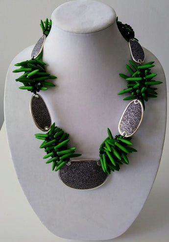 Mckenzie Green Turquoise Silver Necklace-Vedazzling Accessories