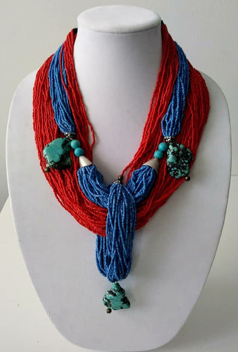 Mckenzie Sea Beads Chunk Turquoise Necklace