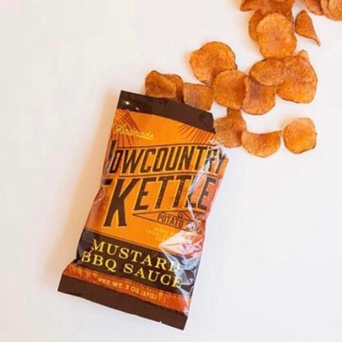 Lowcountry Kettle Chips: Mustard BBQ Sauce Kettle Chips (12 Pack)