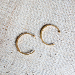 J. Ervan Jewelry: Loma Large Hoop Earrings - SB Shop
