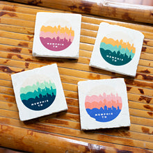 ARCHd: Memphis, TN Retro Skyline Marble Coasters - SB Shop