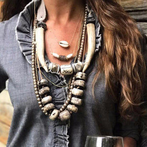 Antler Tribal Collar Necklace