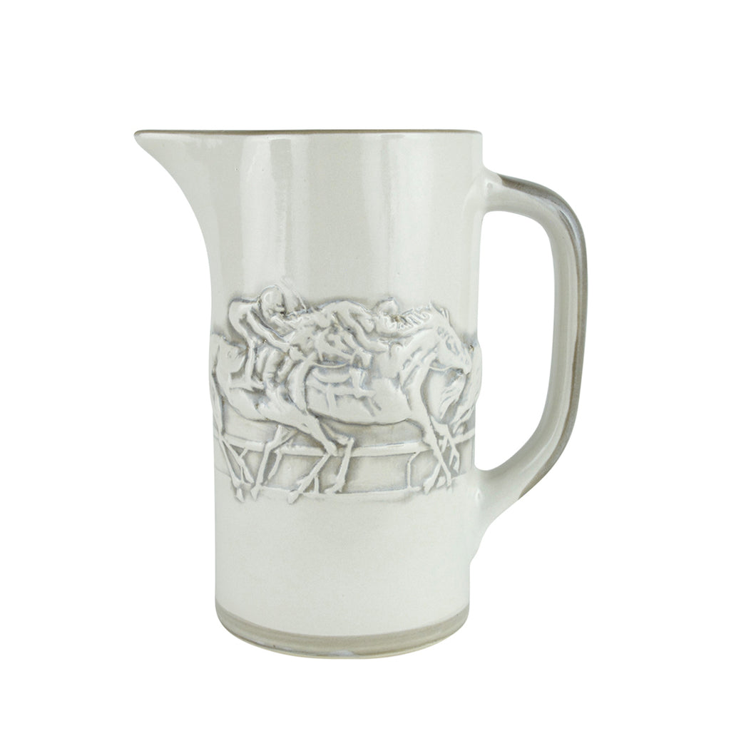 Stoneware and Co.: Embossed Running Horse Bar Pitcher