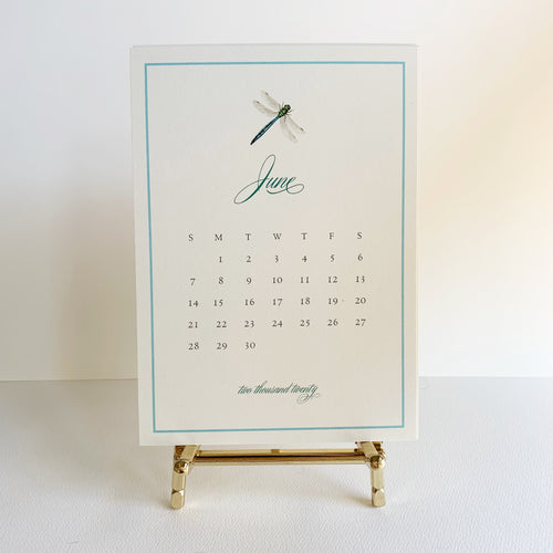 Trabeautiful 2020 Desk Calendar with Easel