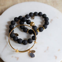 SB + OMI Beads: Black Trio Set with Geode