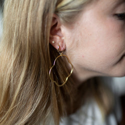 Amy Wells Designs: Hammered Gold Vermeil Quatrafoil Hoop Earrings