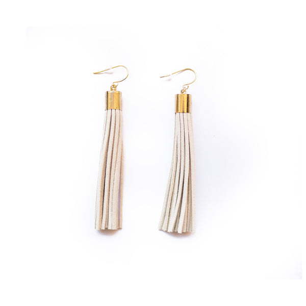 Long Suede Tassel Earrings