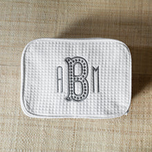 South of Hampton: Waffle Weave Cosmetic Bag - SB Shop