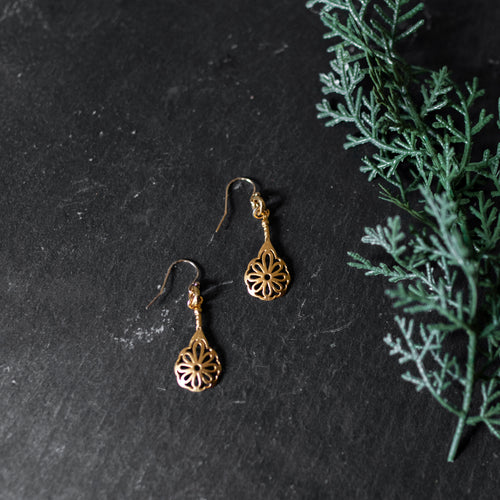 Amy Wells Designs: Gold Vermeil Flower Earrings