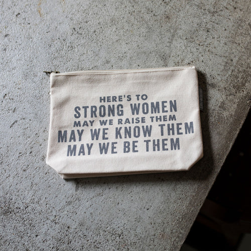 Southern Fried Design Barn: Here's to Strong Women Zippered Pouch